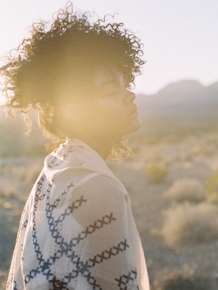 southwest desert editorial photographer | gaby j photography | ruby finch salon | natural black curls