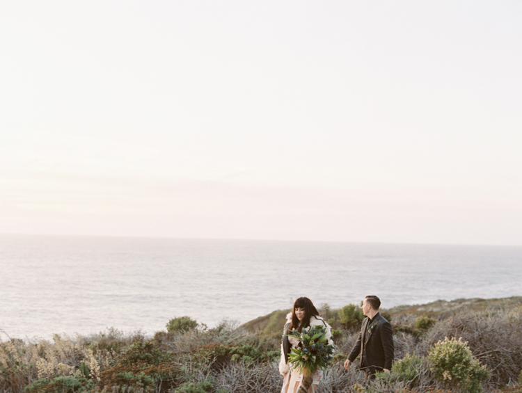 carmel by the sea elopement | destination elopement photographer | big sur elopement | gaby j photography | flora pop | california coast elopement