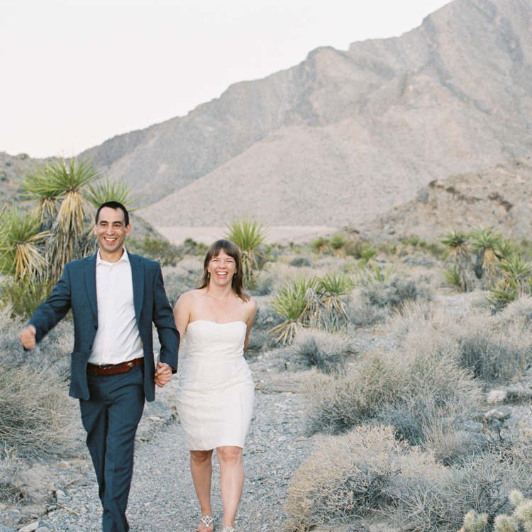 sunrise elopement in las vegas | las vegas elopement photographers | sunrise desert ceremony | gaby j photography