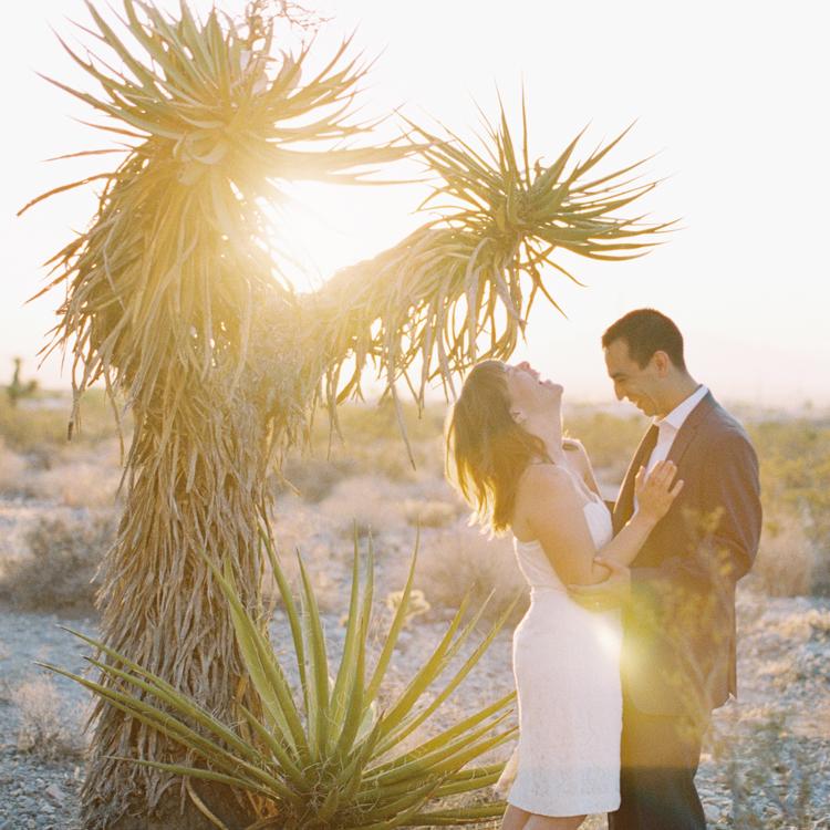 sunrise elopement in las vegas | las vegas elopement photographers | sunrise desert ceremony | gaby j photography