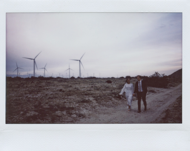 outdoor palm springs elopement photographer windmill