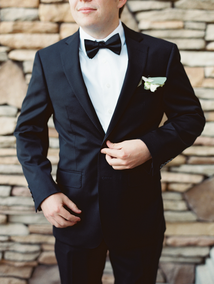 black bow tie groom attire