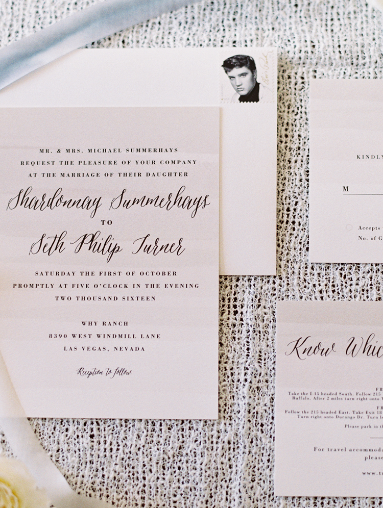 las vegas wedding invitations elvis stamp