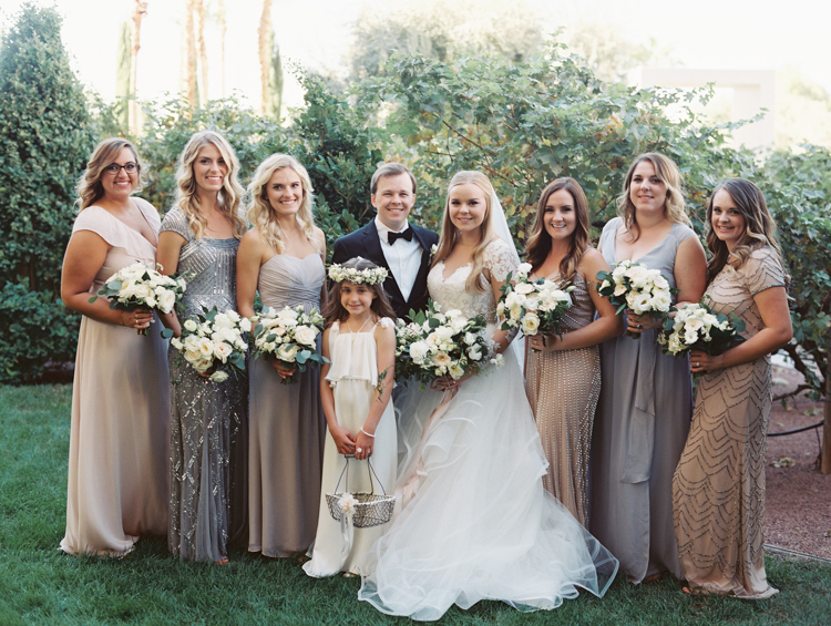 las vegas classic wedding party photo