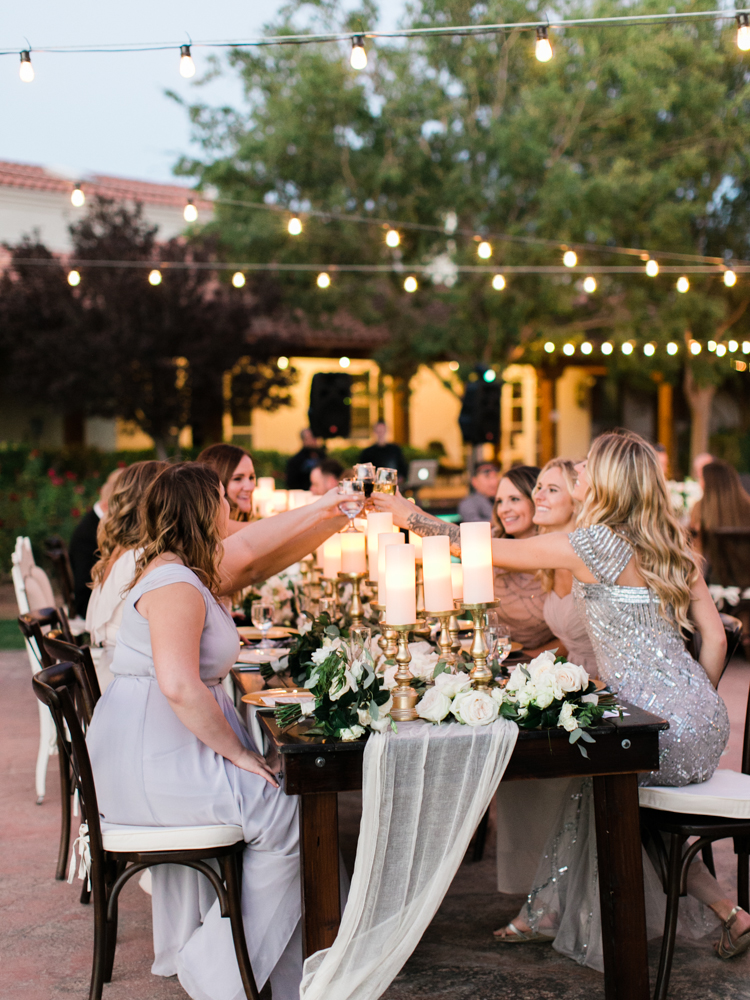 intimate outdoor wedding reception las vegas