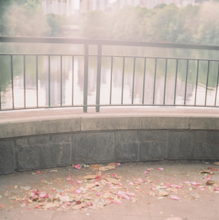 engagement in piedmont park confetti