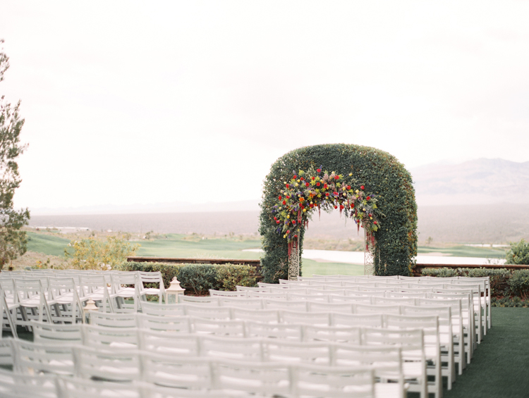 paiute golf las vegas outdoor wedding ceremony