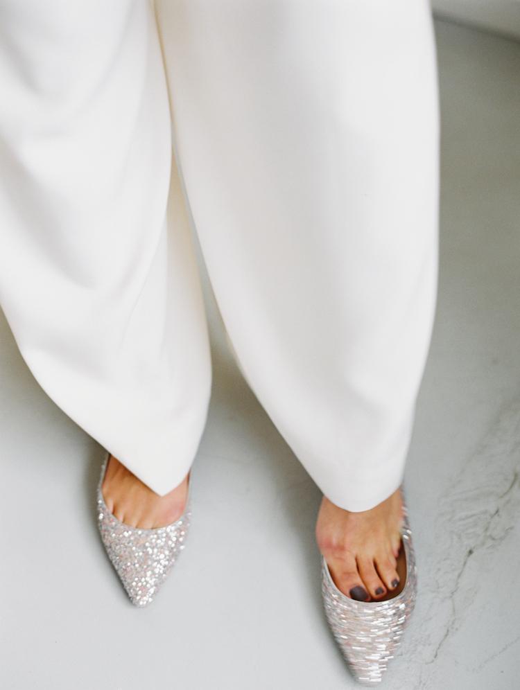 glitter jimmy choo bridal flats