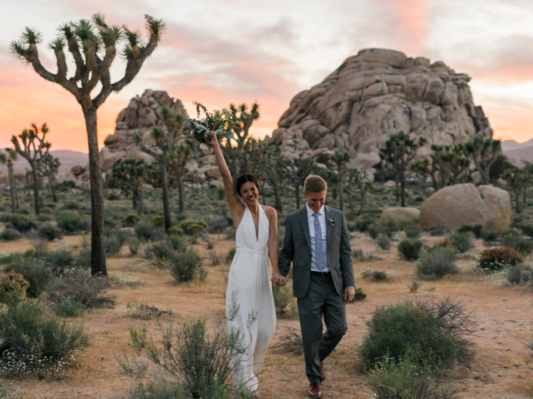 wedding sunset joshua tree park photography