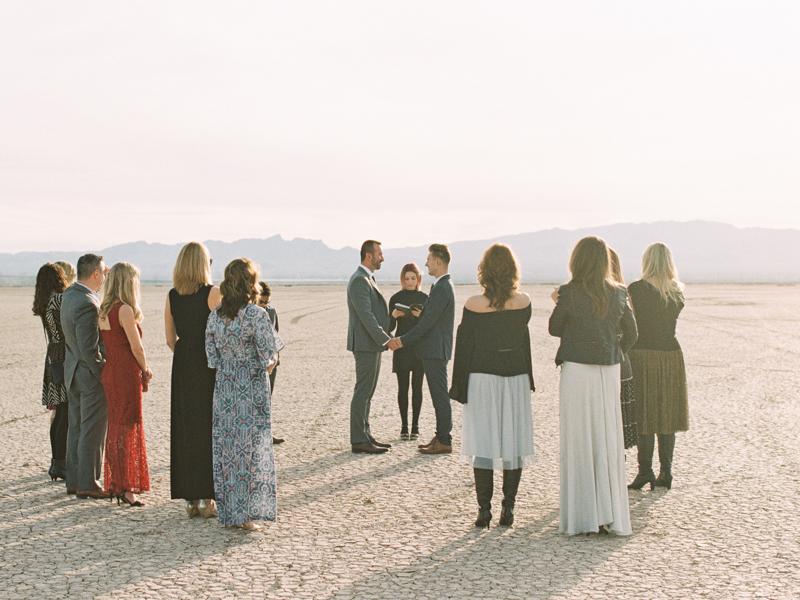 el dorado dry lake bed wedding
