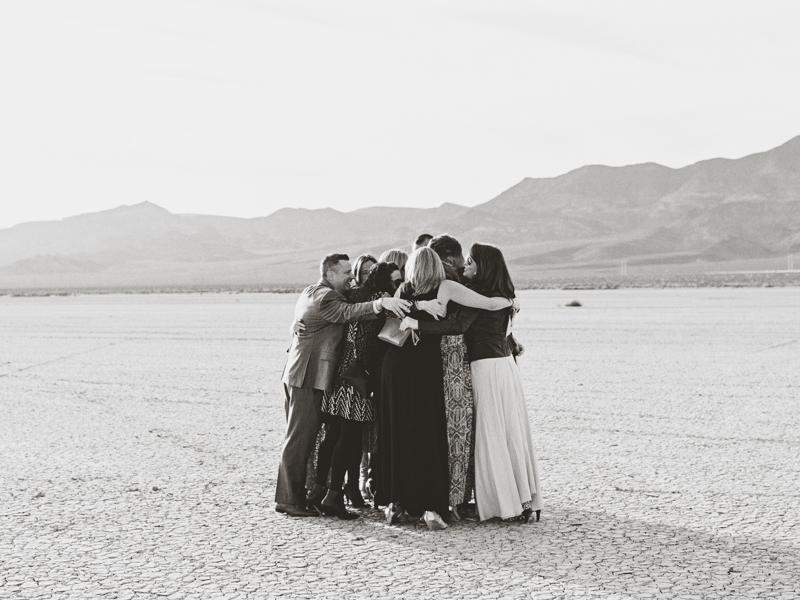 dry lake bed wedding
