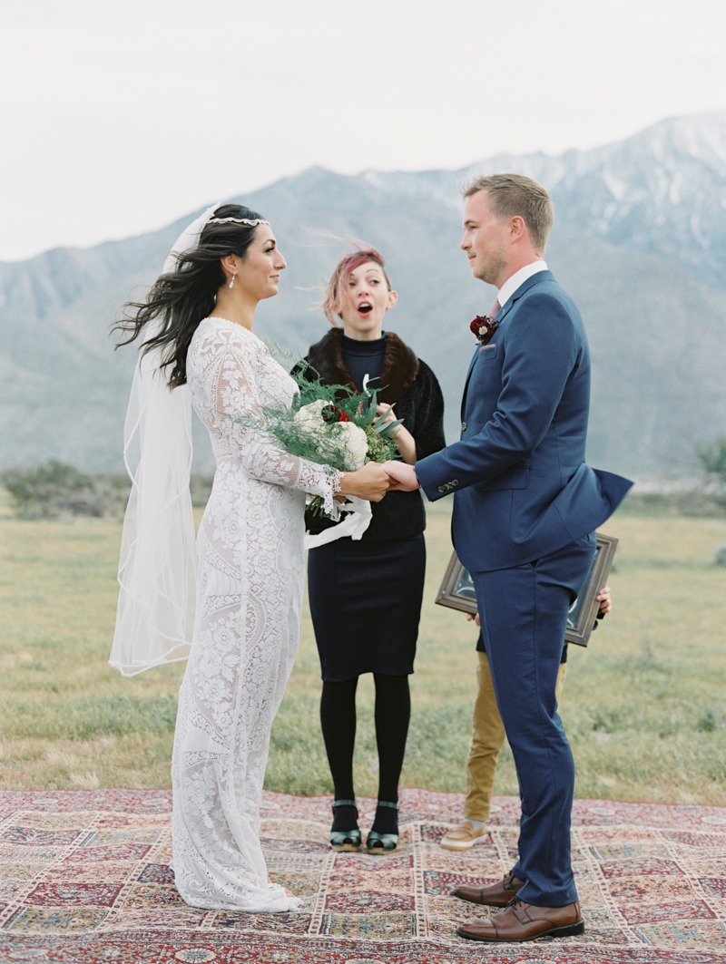 outdoor wedding in palm springs