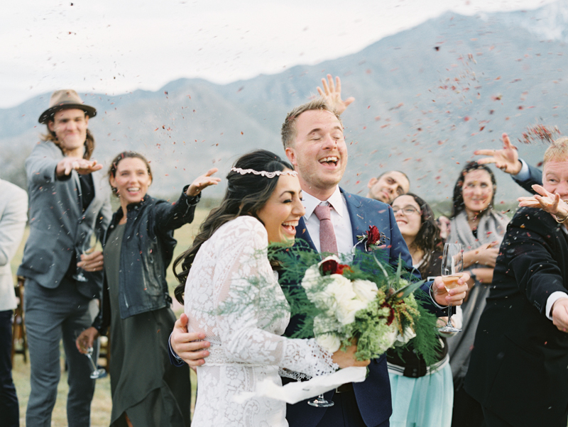 palm springs wedding with confetti - gaby j photography