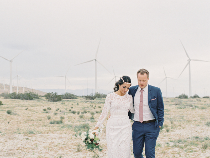 palm springs windmill farm wedding