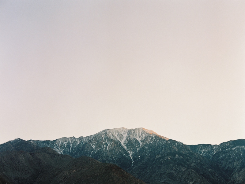 san jacinto mountains during sunset