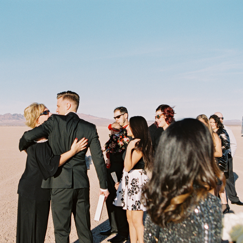 las vegas dry lake bed wedding