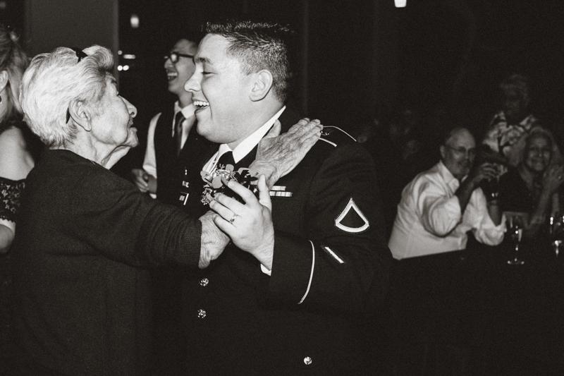 groom dancing with grandma