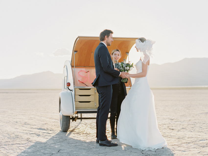 flora pop dry lake bed wedding