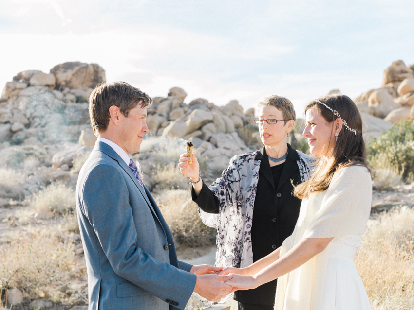 burning of sage during wedding ceremony