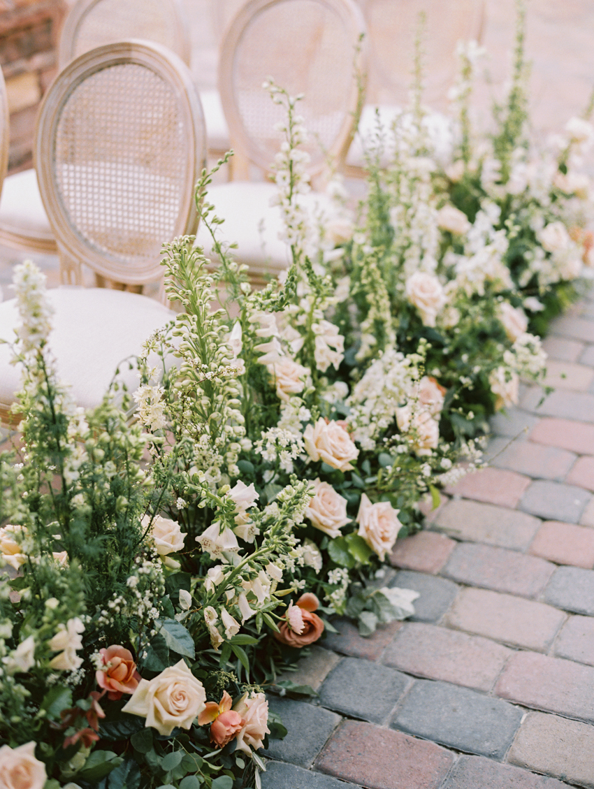 floral walkway ceremony altar