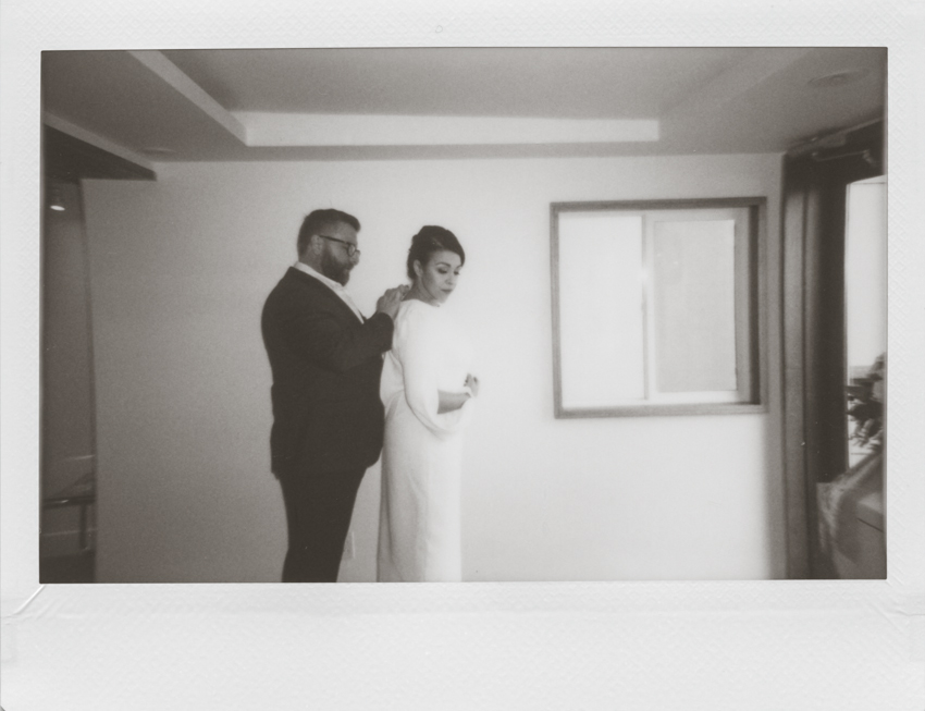 San Francisco city hall elopement polaroid