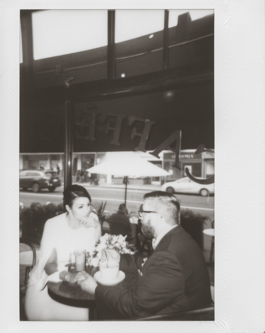 San Francisco elopement polaroid