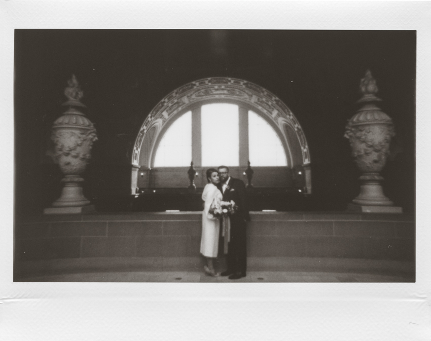 San Francisco city hall elopement polaroid photographer