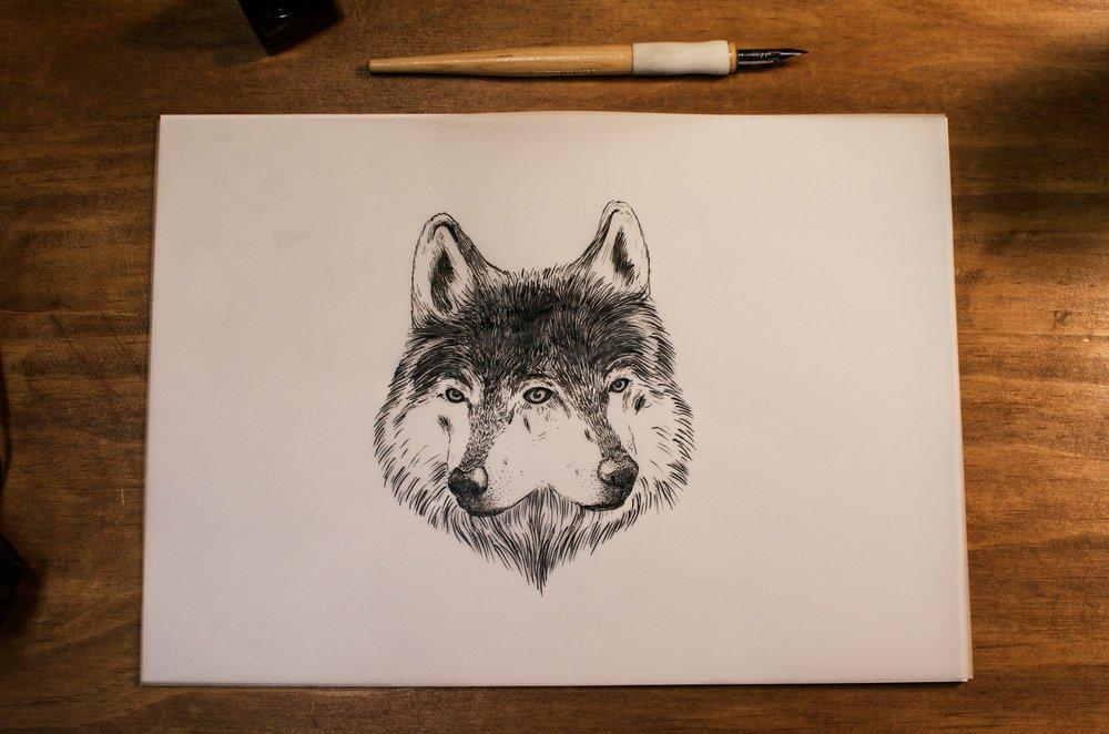 Double headed wolf
