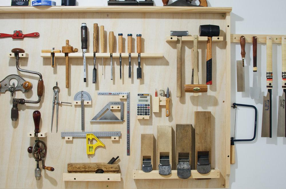 Studio hand tool wall PF