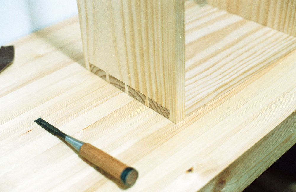 Wall cabinet dovetail detail PF
