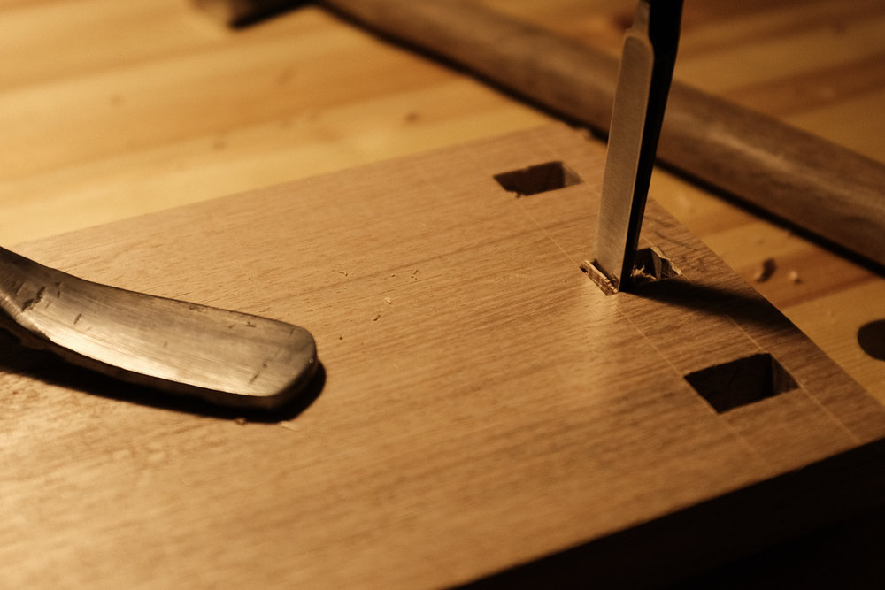 Chopping mortise PF