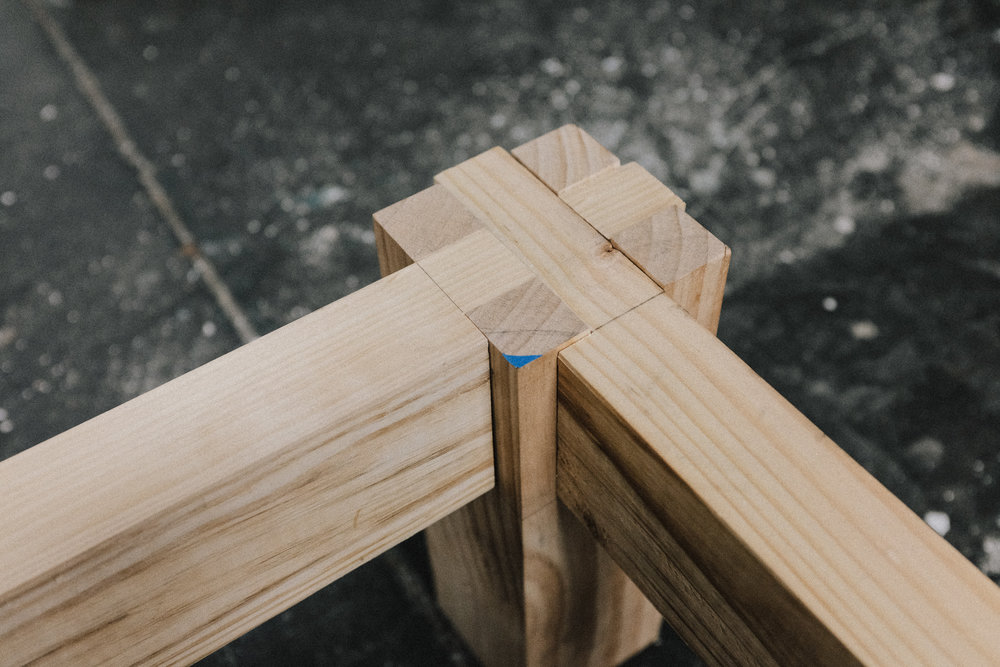 Bed leg joinery PF