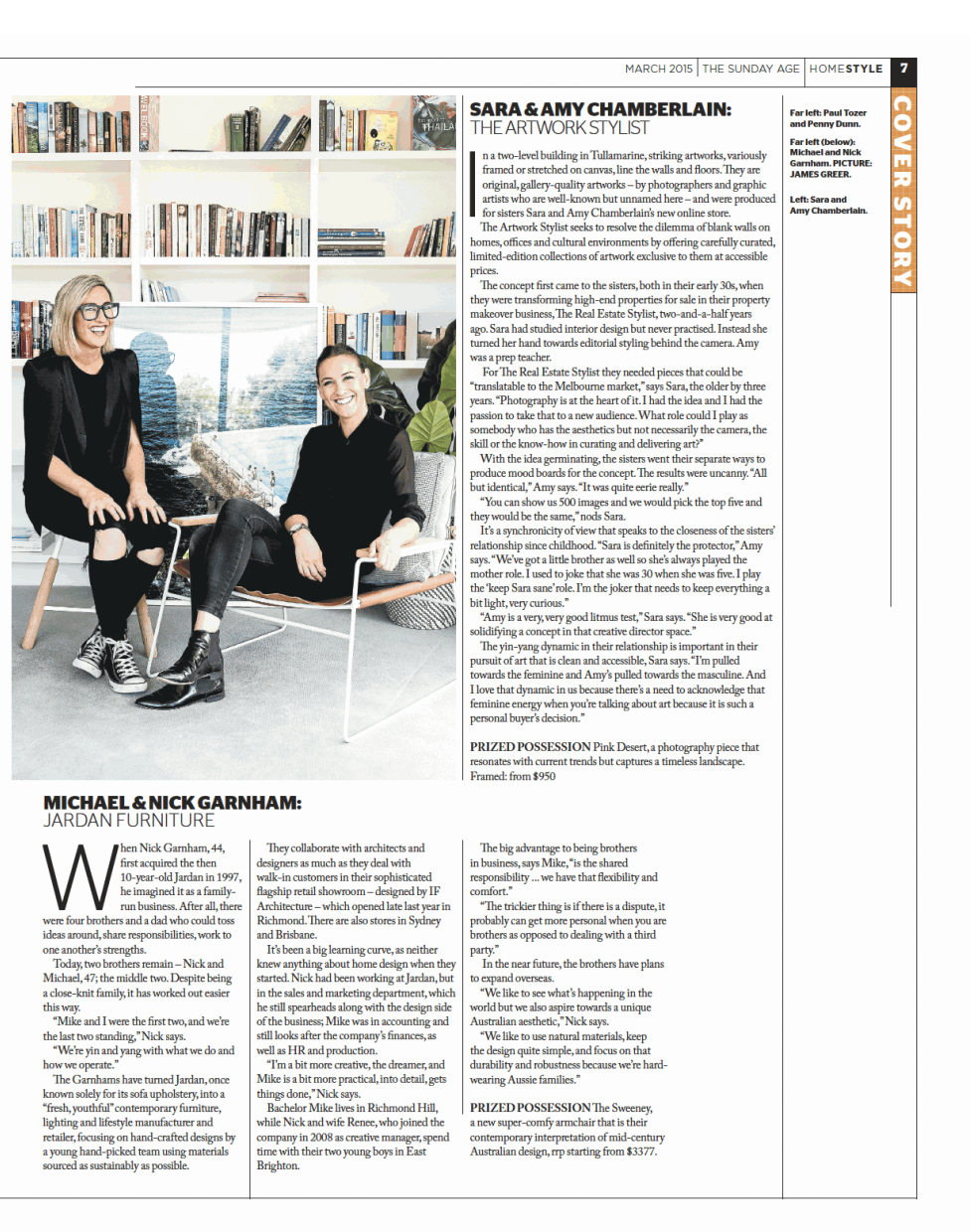 Home Style Magazine - The Age  MARCH 2015