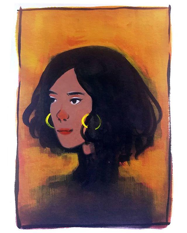 . . . #gouache #gouachepainting #artoftheday #artistsoninstagram #portrait #painting