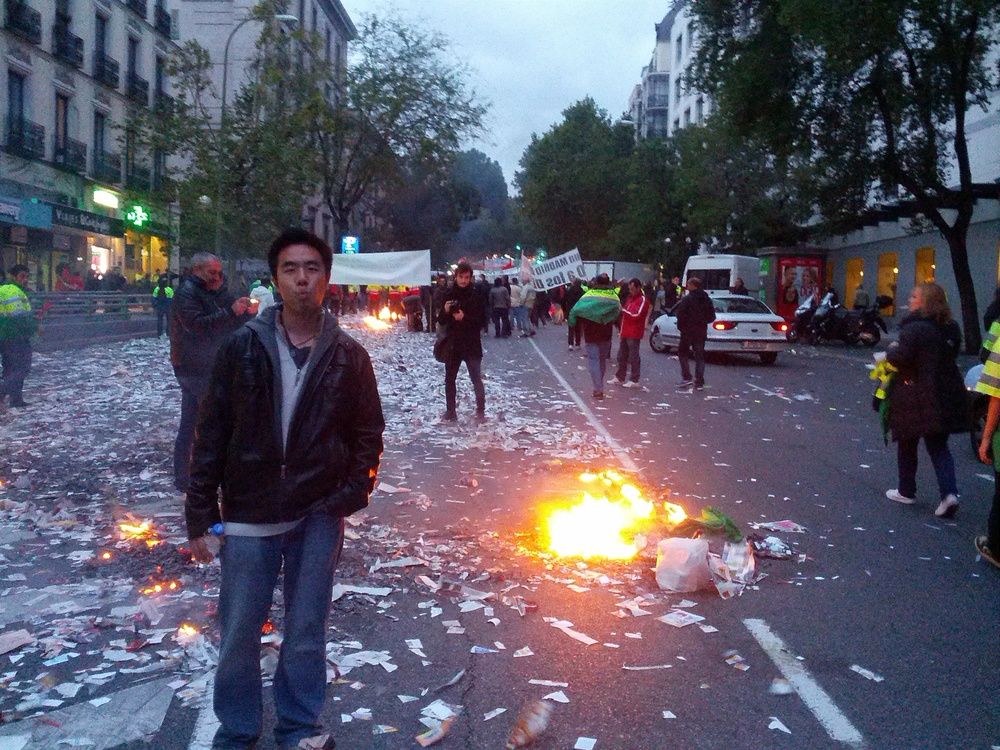 Madrid Wage Riot