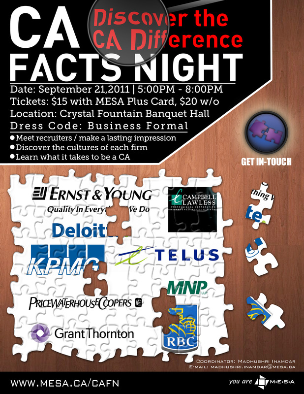 CA Facts Night Poster