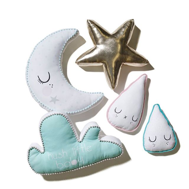 These gorgeous little cushions from @adairs come in an array of colours and shapes to suit your little ones bedroom or nursery. Image courtesy of @flauntermedia_ #adairs #adairskids #kidsrooms #accessories #toocute #flaunter