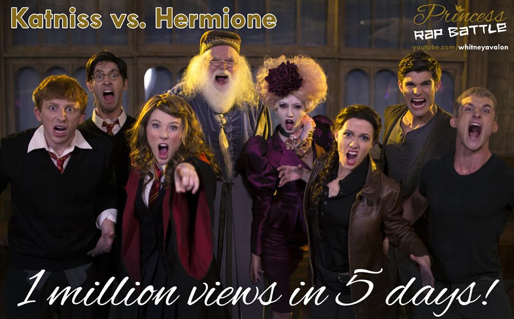 Princess Rap Battle - Hermione VS Katniss