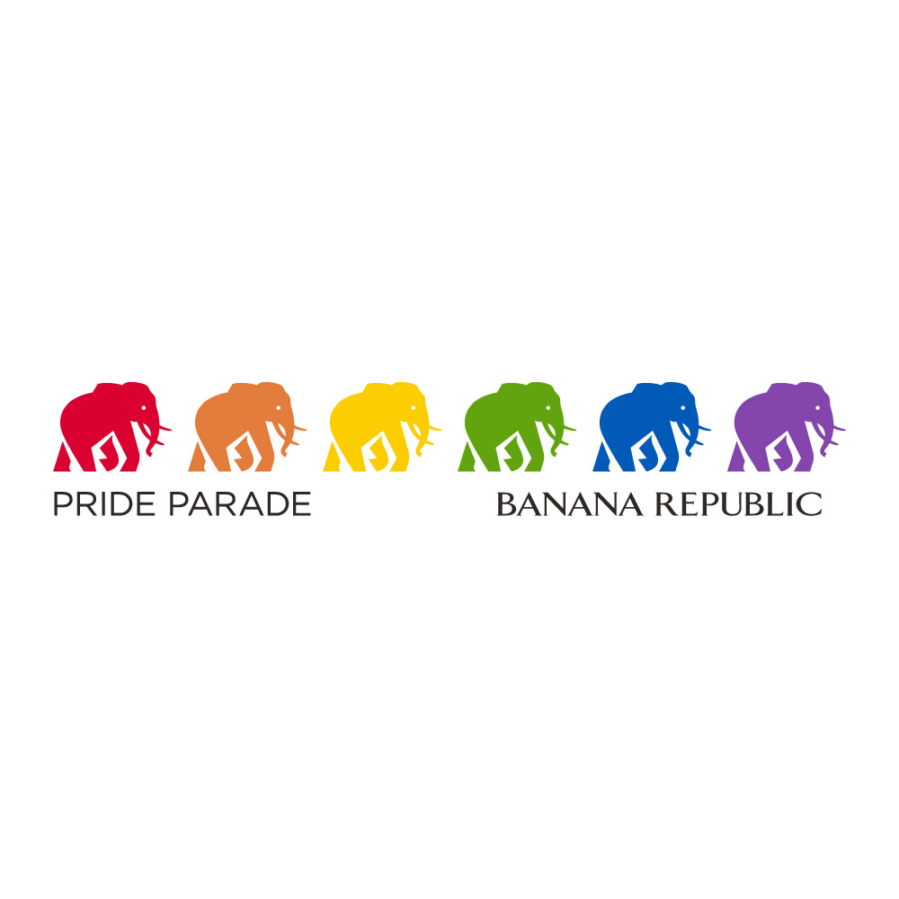 Banana Republic Pride Logo