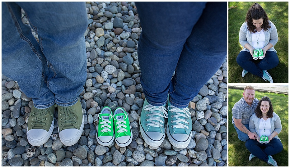 Seattle Maternity Photography Converse Shoes