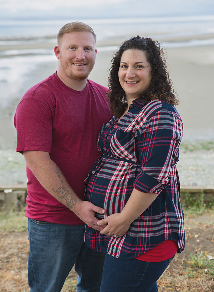 Seattle Maternity Photography Puget Sound Plaid Couple