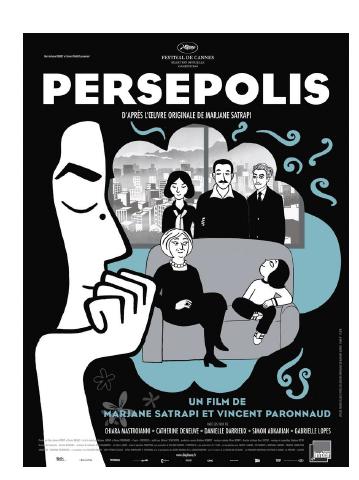 May 20, 2017 《我在伊朗長大》 - (PERSEPOLIS, ©EDKO)導演: 瑪贊莎塔碧, 雲信柏羅洛小女孩瑪珍生於德黑蘭一個思想開明的中產家庭,自幼接受法語教育,性格調皮活潑、敢作敢為。伊朗在巴列維王朝倒台後,局勢嚴峻,人人自危,她的父母惟有忍痛把女兒送出國。14歲隻身來到維也納,在長達4年的留學日子裡,瑪珍從小女孩成長為亭亭玉立的少女,在呼吸自由空氣的同時,也受到種族歧視,因失戀的打擊決定返回故鄉,重新適應在這個封閉專制的伊斯蘭國家生活。經歷了4年失意渾噩的日子後回到祖國,她盡量循規蹈矩,結了婚安定下來。可惜最後還是忍無可忍,24歲那年離婚遠走法國,修讀插圖藝術,自此長居於外國。