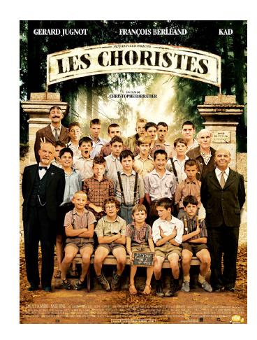 Jun 3, 2017 《歌聲伴我心》 - (THE CHORUS, © PATHE)導演: 克里斯托夫•巴拉蒂懷才不遇的中年老師,如何用音樂帶領一群被大人放棄的學生,在保守壓抑的年代中,尋找生命的真諦...... 那年夏天,馬修老師踏進寄宿學校,任務是「輔導」一群無可救藥的孩子。這過氣的音樂老師竟然想當作曲家來感化這群學生,而在這沒有任何娛樂的學校中,新老師自然成為同學們捉弄的課外活動。有一天,學生偷走老師的公司包,裡面藏著一堆黑白「豆芽菜」,會對五音不全的學生發生什麼奇蹟呢?
