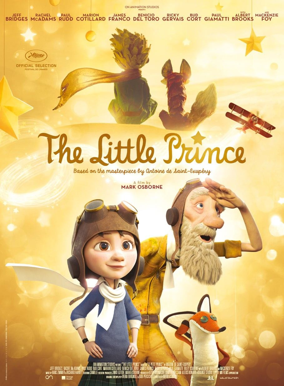 May 26, 2018The Little Prince (2015) - Directed by Mark Osborne全球最暢銷的永恆經典《小王子》面世72年,由《功夫熊貓》導演馬克奧斯本執導,結合3D動畫與手動定格動畫製作!為了考入名校,9歲小女孩跟著媽媽搬入校網區,並遵照媽媽為她制訂的「人生計畫」,分秒必爭地學習。一天,沉悶的溫習被窗外飛來的紙飛機打斷了,小女孩因此認識了古怪鄰居:一位白天修理失靈飛機、晚上愛用望遠鏡眺望星空的老飛機師。小女孩聽他細說年輕時遇見小王子的動人故事,也漸漸隨著小王子的步伐遊歷了整個宇宙,埋藏在心底的童真也重新萌發了。可是,老飛機師卻病倒入院了。為了成全老飛機師跟小王子重逢的願望,小女孩決定帶著布狐狸,開著那架殘破的飛機,踏上尋找小王子的冒險之旅⋯⋯電影《小王子》是獻給所有曾經是小孩子的每個人:我們心裡的小王子長大了嗎?還快樂嗎?