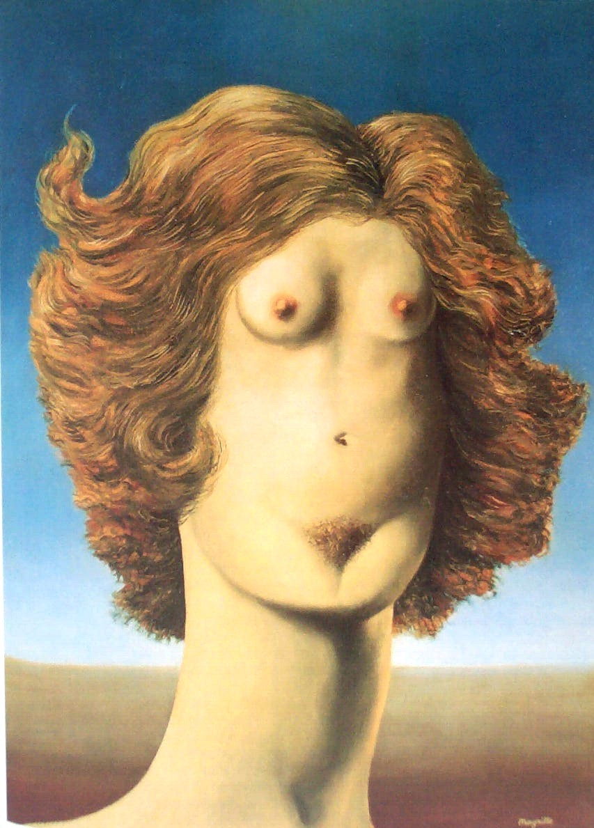 Magritte The Rape, 1934