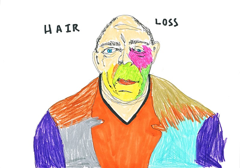 Hair Loss, 2015, pen and pencil on paper