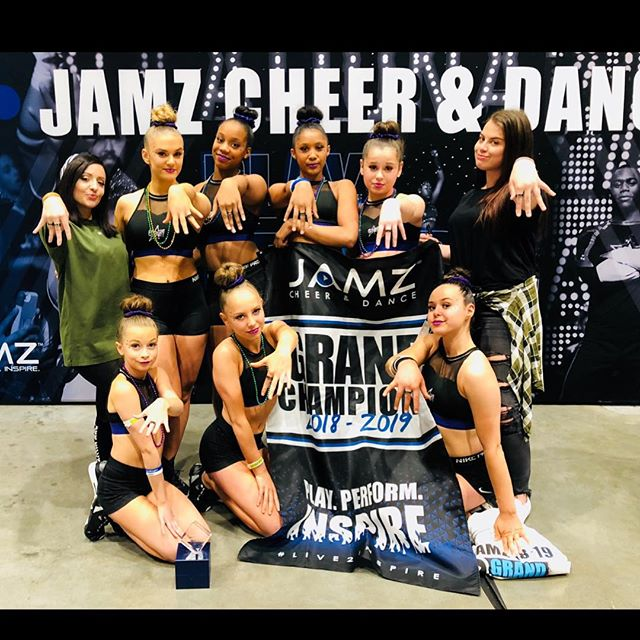 Celebrity had an AMAZING day @jamzcheeranddance!!! Style - 1st place Idols - 1st place  Glamour - 1st place  Fame - 1st place, All-Star grand champions, recipients of grand champion rings & a FULL PAID bid to Champions League West  We also received a judges award for best jumps & the overall program award.  We are excited to get back into the gym and continue grinding before our next completion in January!