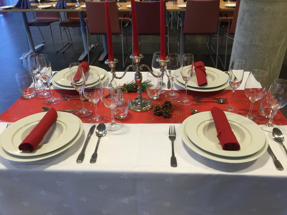 Dette bordet har tema jul
