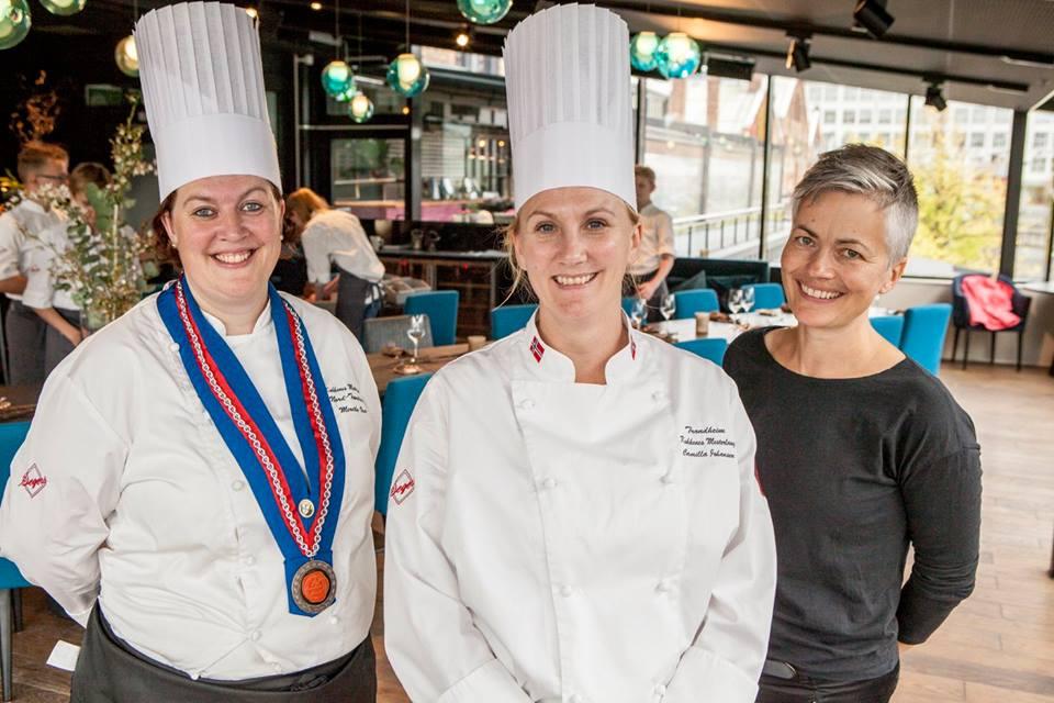 Merethe Veie, Camilla Johansen og Aslaug Rustad.
