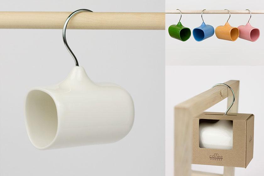 De 'Coffee Hanger' van product ontwerper Amir Alizade